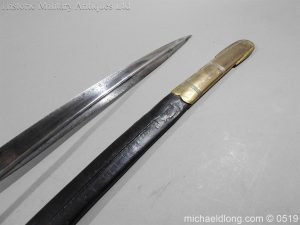 michaeldlong.com 1751 300x225 Royal Naval Officer's Pipe Back Sword By Dudley