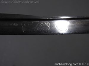 michaeldlong.com 1765 300x225 Royal Naval Officer's Pipe Back Sword By Dudley