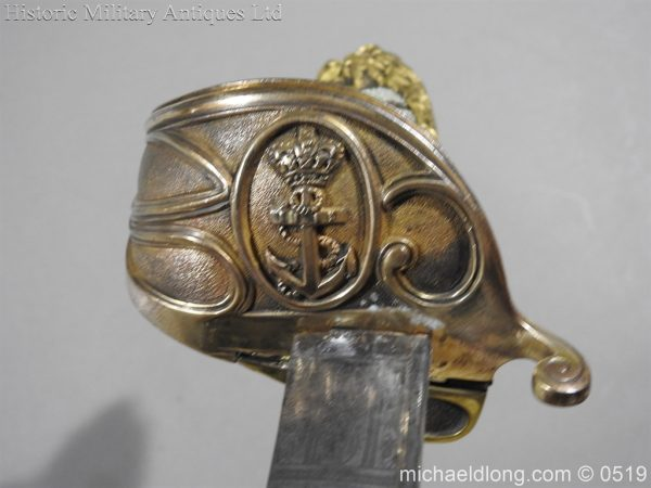 michaeldlong.com 1767 600x450 Royal Naval Officer's Pipe Back Sword By Dudley