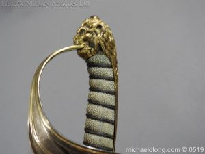 michaeldlong.com 1768 300x225 Royal Naval Officer's Pipe Back Sword By Dudley