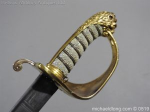 michaeldlong.com 1769 300x225 Royal Naval Officer's Pipe Back Sword By Dudley
