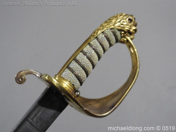 michaeldlong.com 1769 600x450 Royal Naval Officer's Pipe Back Sword By Dudley