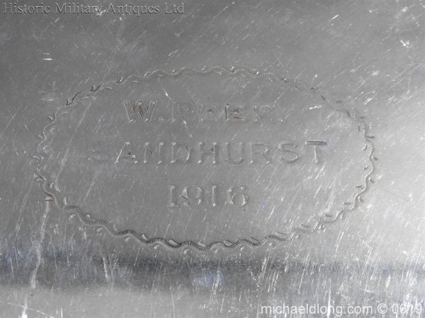 michaeldlong.com 1898 600x450 Sandhurst Presentation Silver Tray Dated 1916