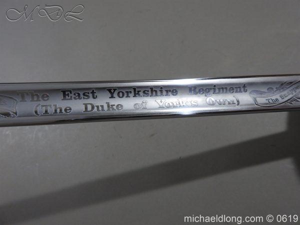 michaeldlong.com 2451 600x450 East Yorkshire Regimental Presentation Sword