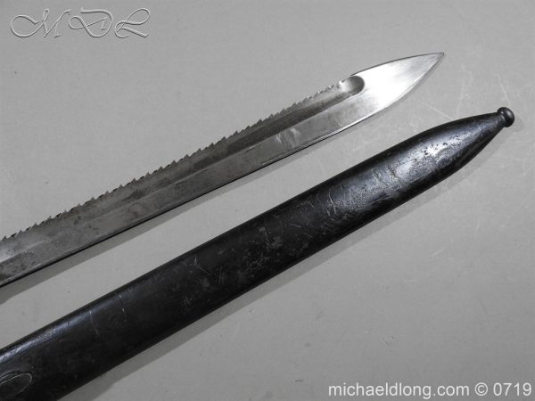 michaeldlong.com 2797 600x450 German Saw Back WW1 Butcher Bayonet
