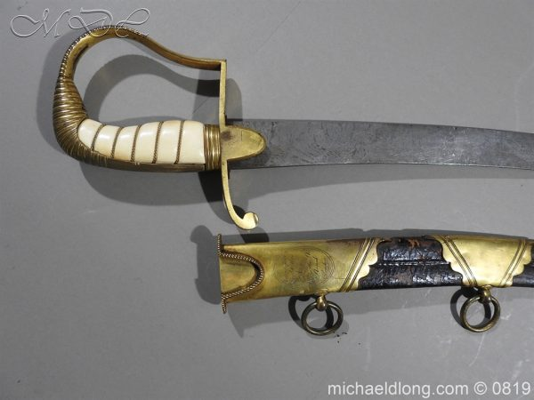 michaeldlong.com 3359 600x450 British Naval Officer's Sword c1800