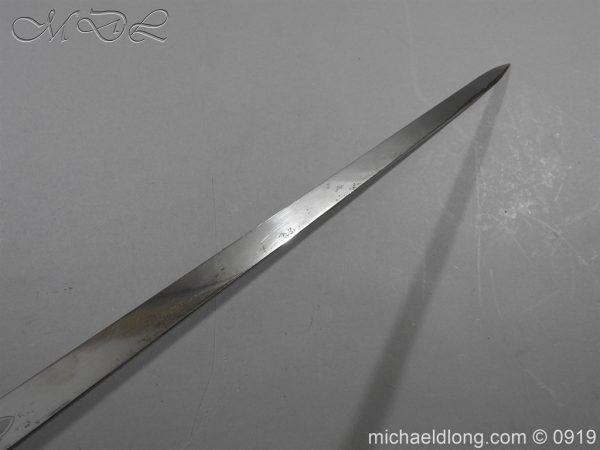 michaeldlong.com 4114 600x450 WW1 British 1897 Officers Presentation Sword