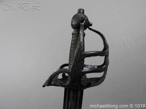 michaeldlong.com 4180 600x450 English Mortuary Hilted Broadsword 17th Century