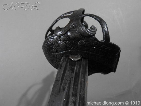 michaeldlong.com 4183 600x450 English Mortuary Hilted Broadsword 17th Century