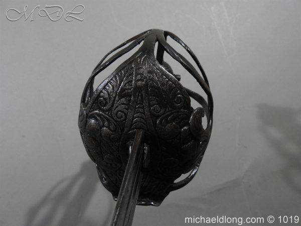 michaeldlong.com 4184 600x450 English Mortuary Hilted Broadsword 17th Century