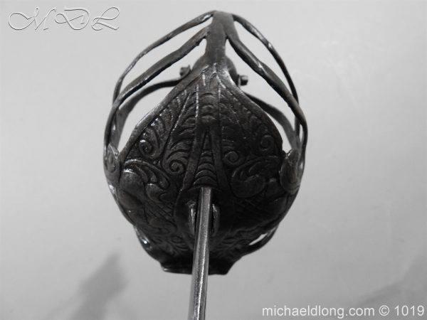 michaeldlong.com 4190 600x450 English Mortuary Hilted Broadsword 17th Century