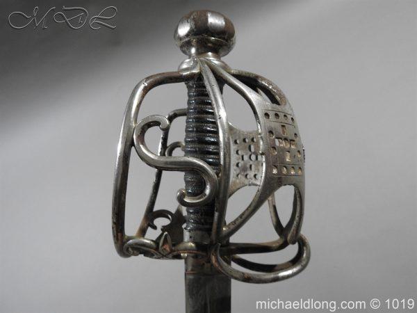 michaeldlong.com 4272 600x450 Scottish Basket Hilted Sword Silver Mounts