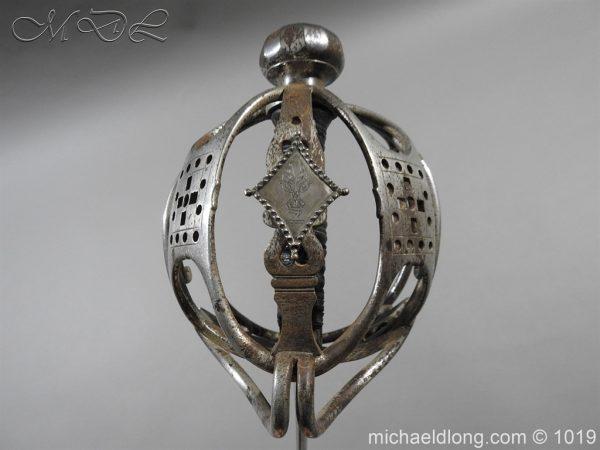 michaeldlong.com 4273 600x450 Scottish Basket Hilted Sword Silver Mounts