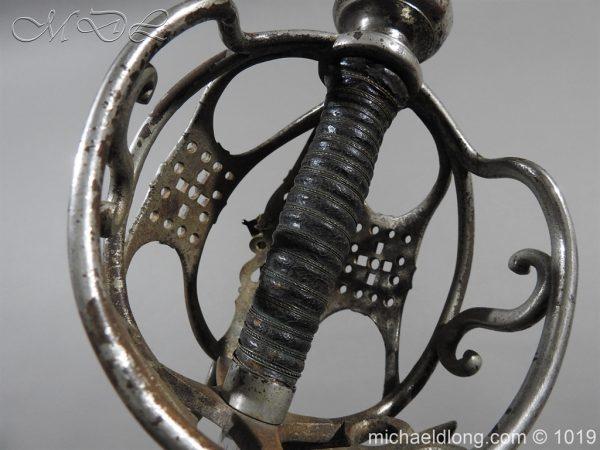 michaeldlong.com 4276 600x450 Scottish Basket Hilted Sword Silver Mounts