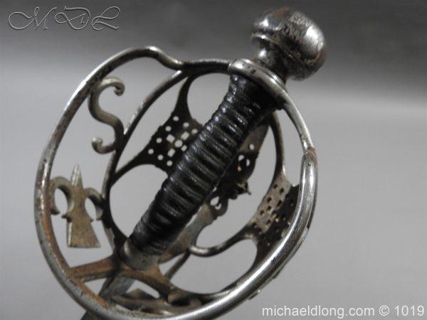 michaeldlong.com 4277 600x450 Scottish Basket Hilted Sword Silver Mounts