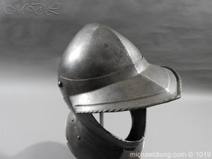 michaeldlong.com 4308 300x225 English Civil War Burgonet Helmet