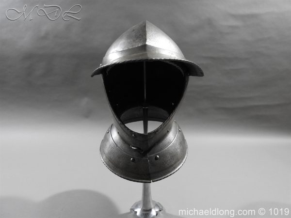 michaeldlong.com 4310 600x450 English Civil War Burgonet Helmet