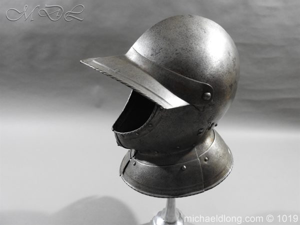 michaeldlong.com 4312 600x450 English Civil War Burgonet Helmet