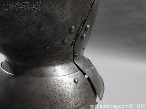 michaeldlong.com 4315 300x225 English Civil War Burgonet Helmet