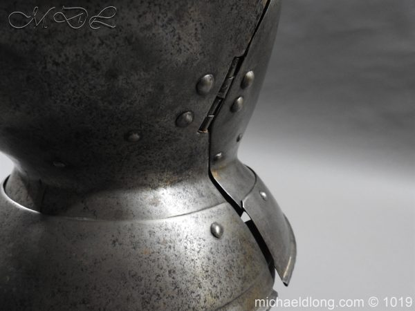 michaeldlong.com 4315 600x450 English Civil War Burgonet Helmet