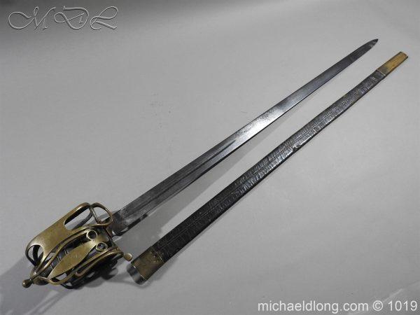 michaeldlong.com 4356 600x450 Scottish Officer's 1798 Pat Broad Sword by Fraser London