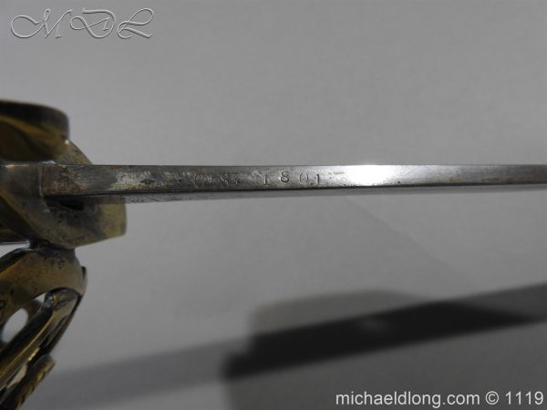michaeldlong.com 4571 600x450 Naval Officer's Sword Dated 1801