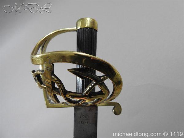 michaeldlong.com 4574 600x450 Naval Officer's Sword Dated 1801