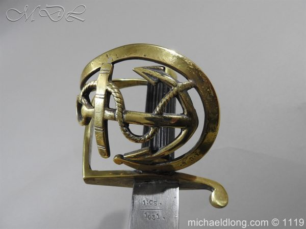 michaeldlong.com 4575 600x450 Naval Officer's Sword Dated 1801