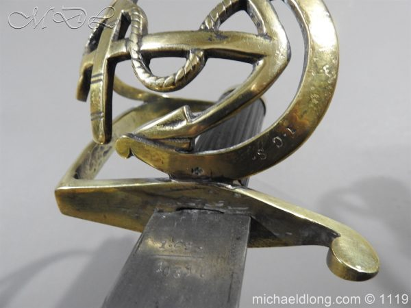 michaeldlong.com 4579 600x450 Naval Officer's Sword Dated 1801