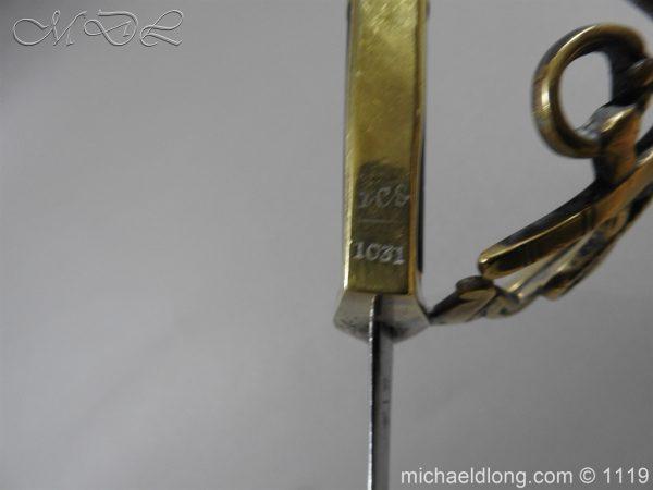 michaeldlong.com 4580 600x450 Naval Officer's Sword Dated 1801