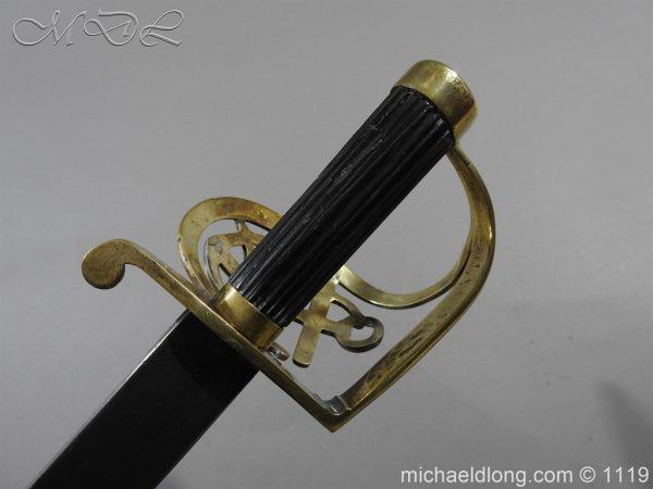 michaeldlong.com 4581 600x450 Naval Officer's Sword Dated 1801