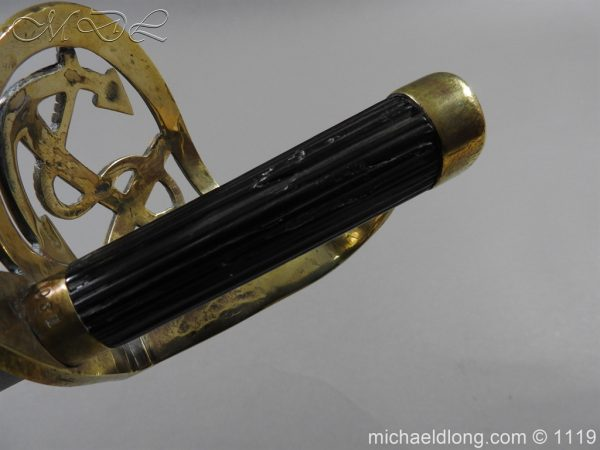 michaeldlong.com 4582 600x450 Naval Officer's Sword Dated 1801