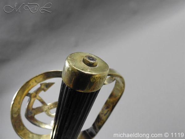 michaeldlong.com 4585 600x450 Naval Officer's Sword Dated 1801