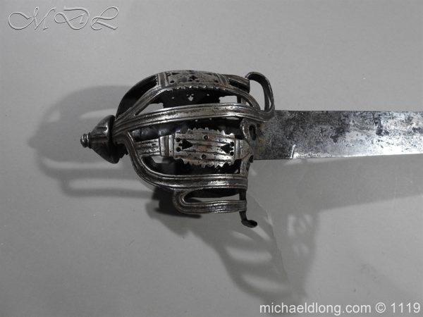 michaeldlong.com 4852 600x450 Scottish Basket Hilted Broad Sword c 1680