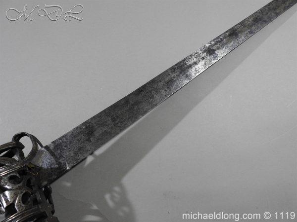 michaeldlong.com 4853 600x450 Scottish Basket Hilted Broad Sword c 1680