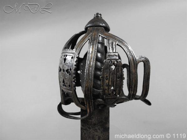 michaeldlong.com 4860 600x450 Scottish Basket Hilted Broad Sword c 1680