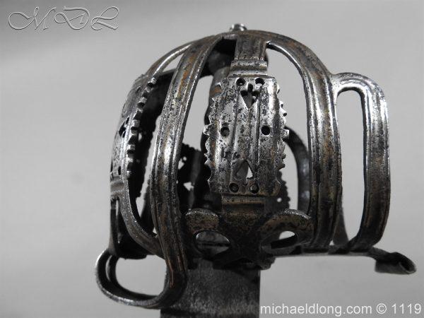 michaeldlong.com 4861 600x450 Scottish Basket Hilted Broad Sword c 1680