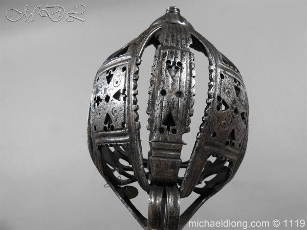 michaeldlong.com 4862 600x450 Scottish Basket Hilted Broad Sword c 1680
