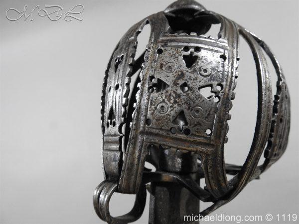 michaeldlong.com 4863 600x450 Scottish Basket Hilted Broad Sword c 1680