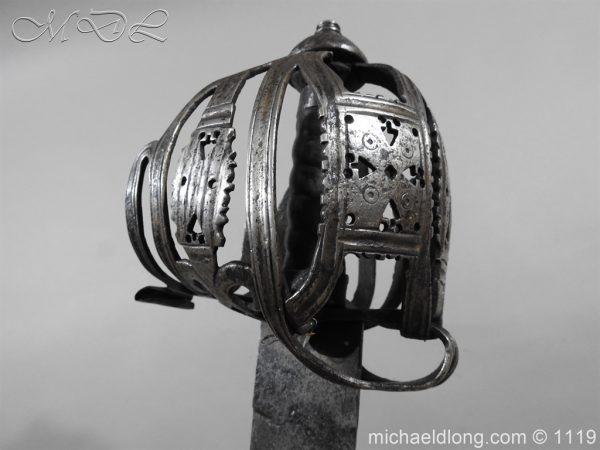 michaeldlong.com 4864 600x450 Scottish Basket Hilted Broad Sword c 1680