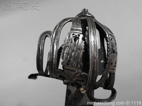 michaeldlong.com 4865 600x450 Scottish Basket Hilted Broad Sword c 1680