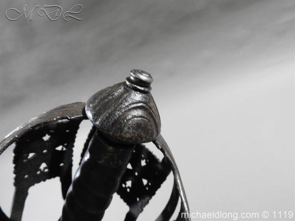 michaeldlong.com 4868 600x450 Scottish Basket Hilted Broad Sword c 1680