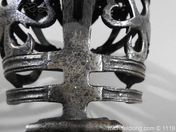 michaeldlong.com 4869 600x450 Scottish Basket Hilted Broad Sword c 1680