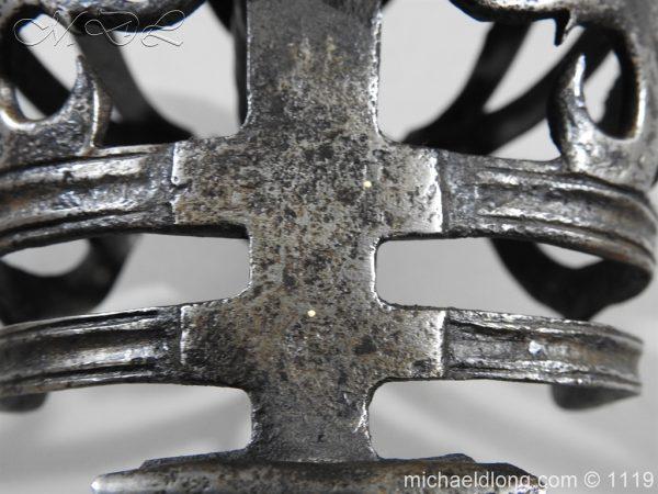 michaeldlong.com 4870 600x450 Scottish Basket Hilted Broad Sword c 1680