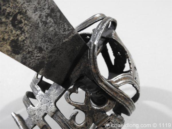 michaeldlong.com 4872 600x450 Scottish Basket Hilted Broad Sword c 1680