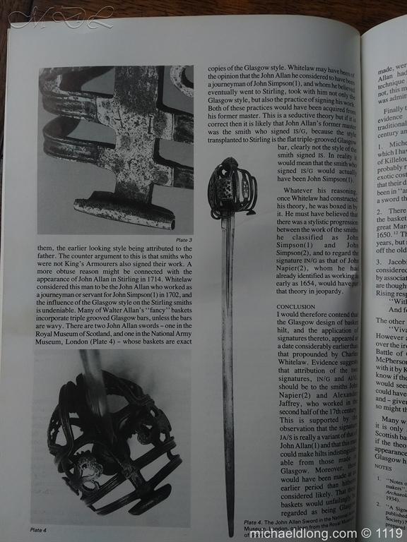 michaeldlong.com 4876 Scottish Basket Hilted Broad Sword c 1680