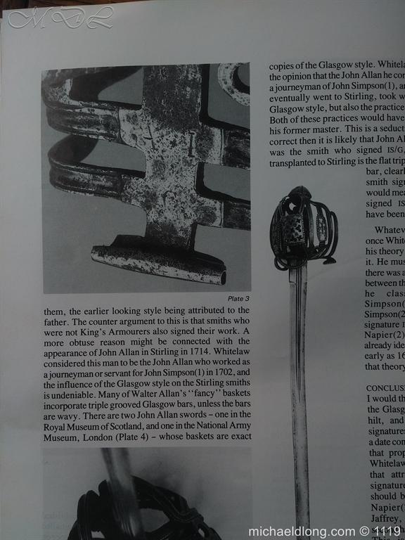 michaeldlong.com 4877 Scottish Basket Hilted Broad Sword c 1680