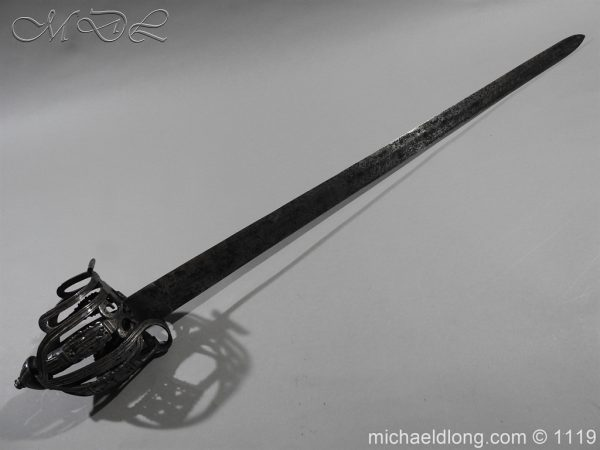 michaeldlong.com 4879 600x450 Scottish Basket Hilted Broad Sword c 1680