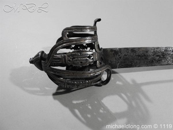 michaeldlong.com 4880 600x450 Scottish Basket Hilted Broad Sword c 1680