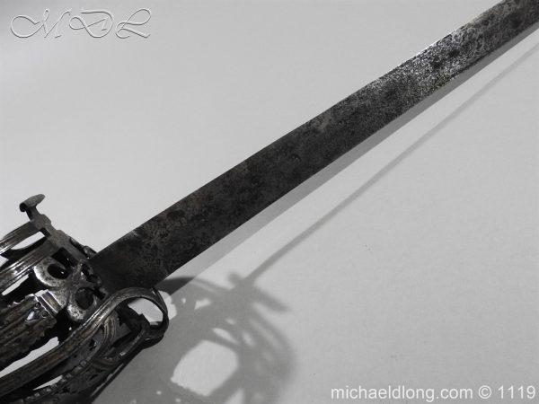 michaeldlong.com 4881 600x450 Scottish Basket Hilted Broad Sword c 1680